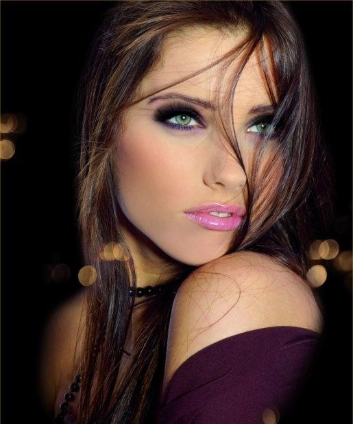 eye makeup.