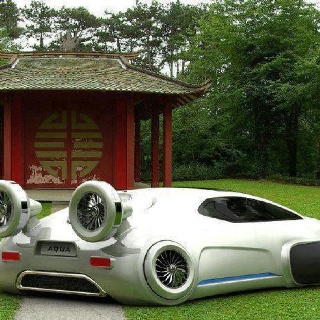 Volkswagen Aqua - concept car/ hovercraft all-terrain vehicle powered by hydrogen fuel cell.
