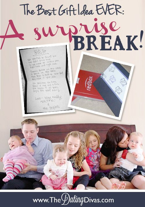 """Father's Day gift idea! Give dad a """"surprise break""""!"""