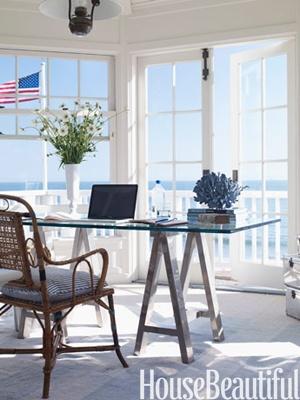 Home office design: Carolyn Espley-Miller. Photo: David Tsay. #american #nautical #beach