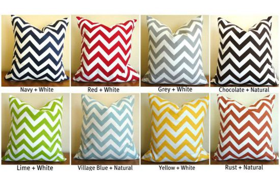 Modern 18×18 Chevron Pillow Covers