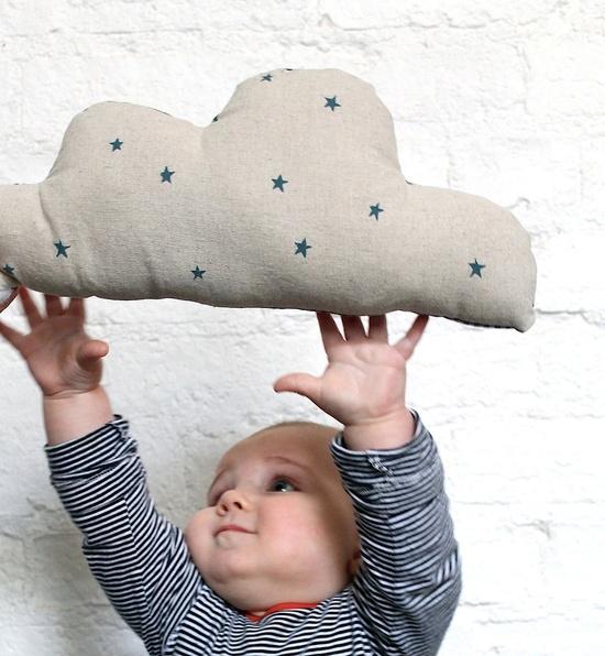 Linen Polka Dot Cloud Cushion #BrooklynBride