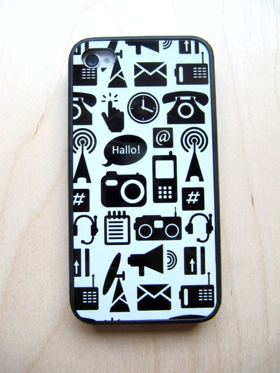 Case for iPhone 4 / iPhone 4S Communication by TamTamPatterns