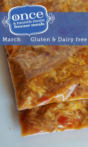 Gluten Free Dairy Free March 2013 Freezer Menu