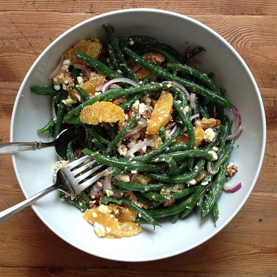 Green Bean Salad with Citrus, Feta & Walnuts by williamssonoma: Inspiration! #Salad #Green_Beans #Citrus #Feta
