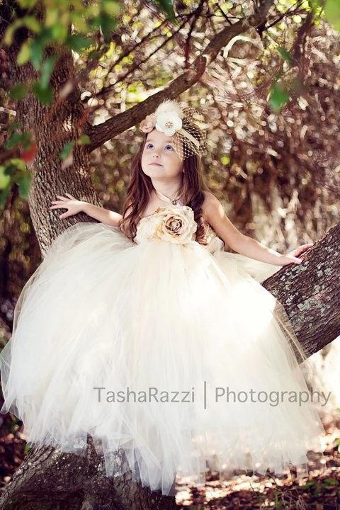 tutu flowergirl dress
