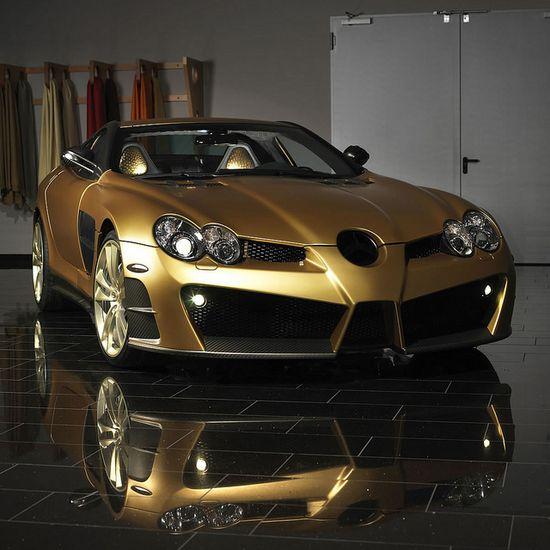 Outrageous Mercedes Benz SLR Mclaren Renovatio Gold Edition.