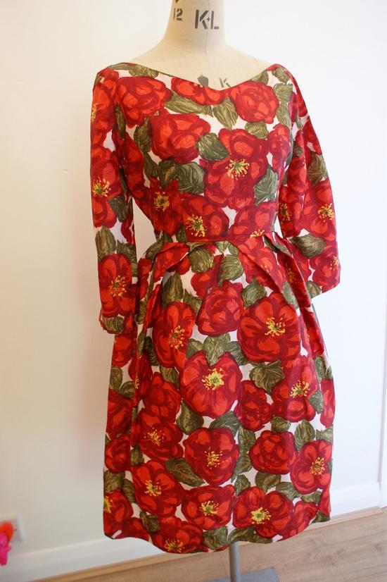 The reddest of roses - 1950s Almac Dress.