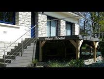 Terrasse composite sur piloti - Arbor minéral paysagiste Vannes Baden