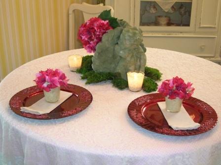 Romantic Valentines Tablescape
