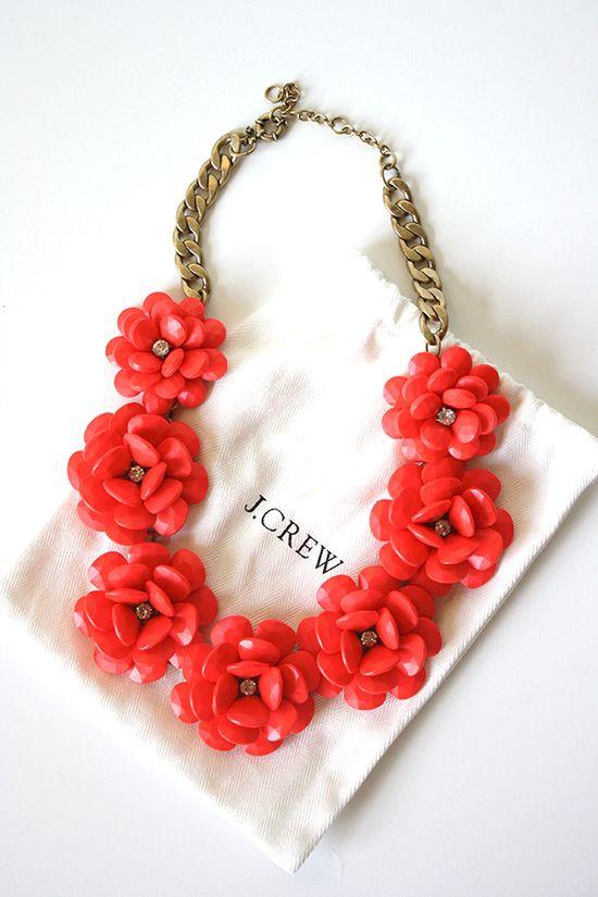 J.Crew Flower Necklace