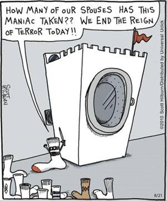 dryer and socks