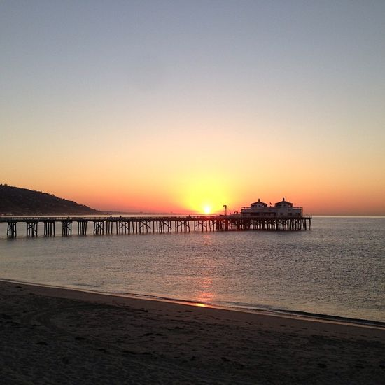 Sunrise at Surfrider. #sunrise #surfriderbeach #malibu #california #beautiful #beach #ocean #malibupier