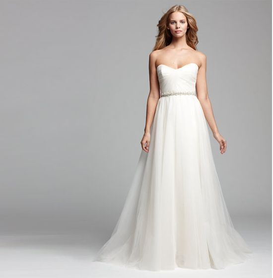 Classic, strapless ballgown #weddings #Nordstrom