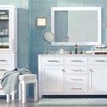decoracao de casa dicas de decoracao de banheiro com azul e branco1 150x150 Banheiros decorados em azul