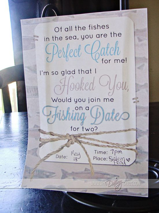 Cute invite for a FISHIN' date! www.TheDatingDiva... #freeprintable #fishing