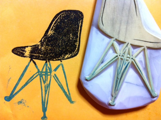 Eames chair stamp