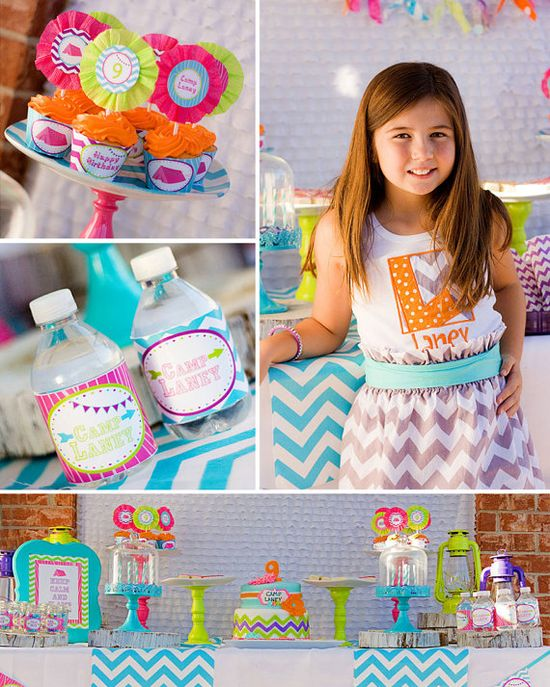 Glam Camping Birthday  Slumber Party  by LillianHopeDesigns, $25.00