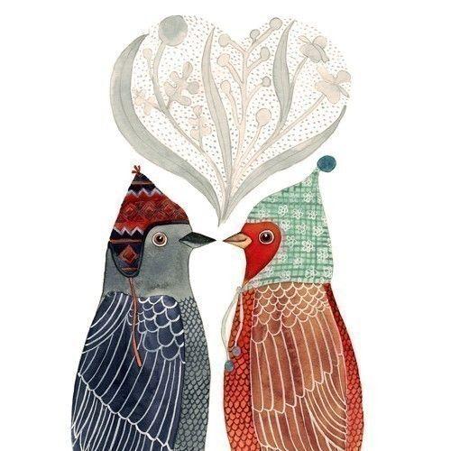 Lovebirds Print. $30.00, via Etsy.
