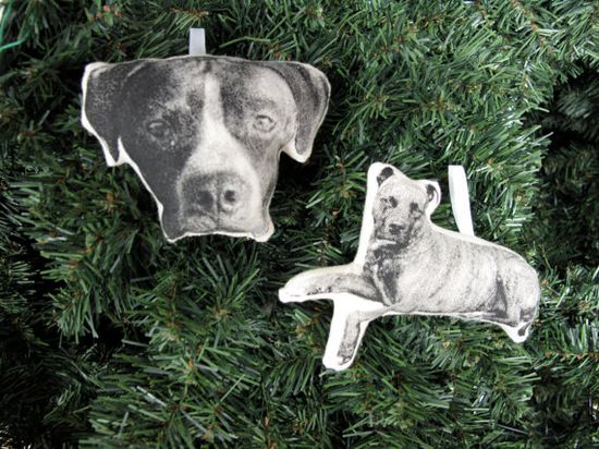 Custom Silkscreen Pet Christmas Ornament by shannonbroder on Etsy, $30.00