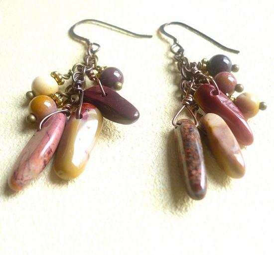 Jasper Gemstone Earrings by #LynnetteJewelry