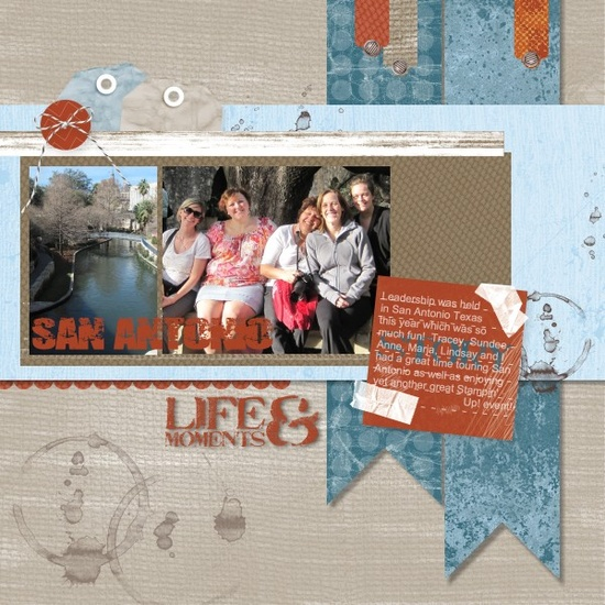 Great layout and love this Digi Kit! #scrapbook #travel #blue #red #layout