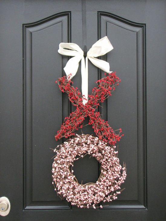 Xo hugs & kisses Valentine wreath