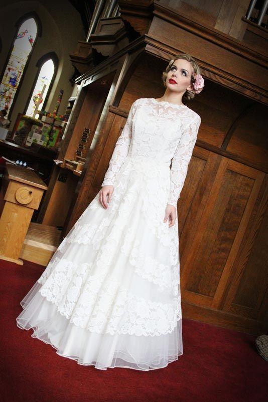 www.veryvintagebr... 1950s bridal