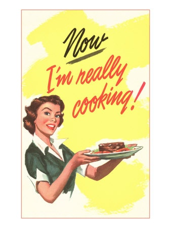 vintage cooking poster