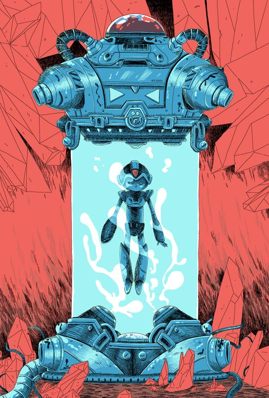 Mega Man X piece for this years Fangamer X Attract Mode show in Seattle during PAX.24 x 36, 4 color screen prints.