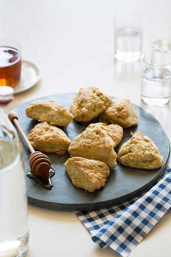 White cheddar black pepper scones. #food #scones #baking