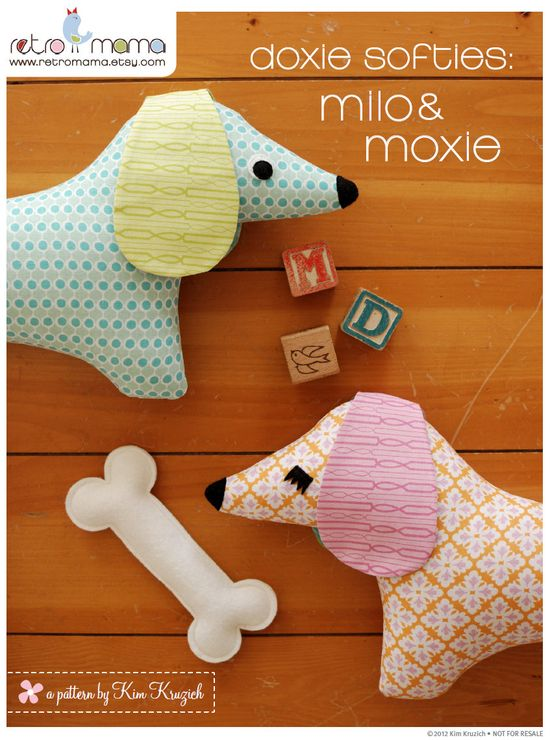 Stuffed Animal Pattern - PDF Sewing Pattern  - Doxie Softie - Dog Sewing Pattern. $8.00, via Etsy. I'm buying this. Tomorrow.