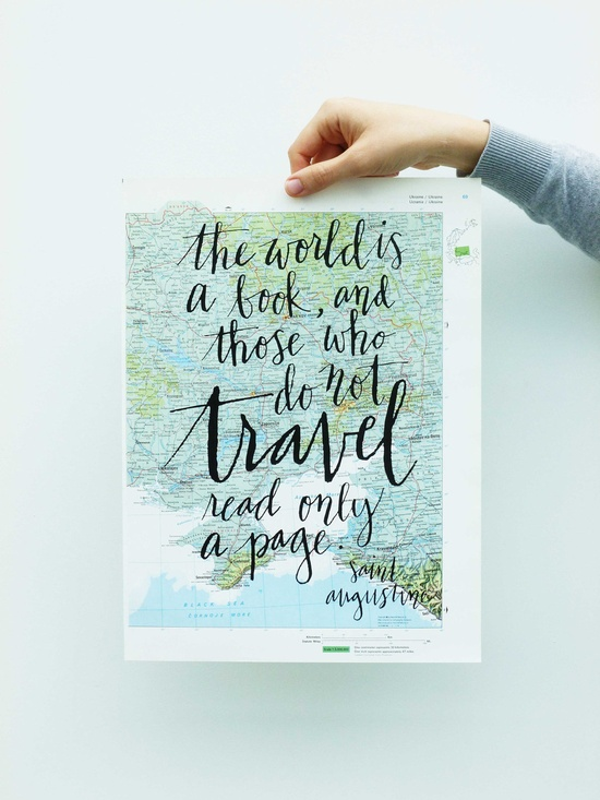 the world is a book, and those who do not travel read only a page