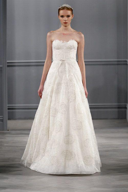 Monique Lhuillier wedding dress from the spring 2014 bridal collection
