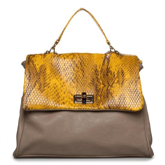 Exotic accents handbag.