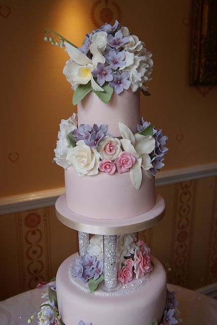 Sugar Flowers Wedding Cake by Cakes by Occasion