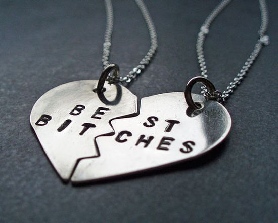Best Bitches Split Heart Necklaces  Best Friends by TwentySix7, $25.00