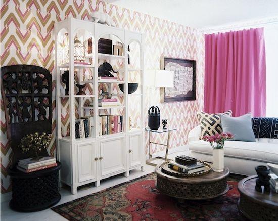 Emily Henderson — Stylist - BLOG - New Work, wallpaper by @aphrochic www.stylebyemilyh...