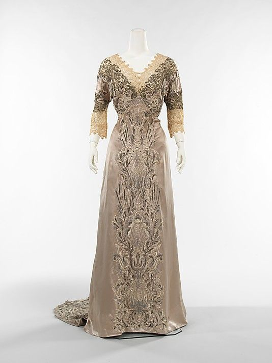 attributed to Callot Soeurs dinner dress ca. 1908