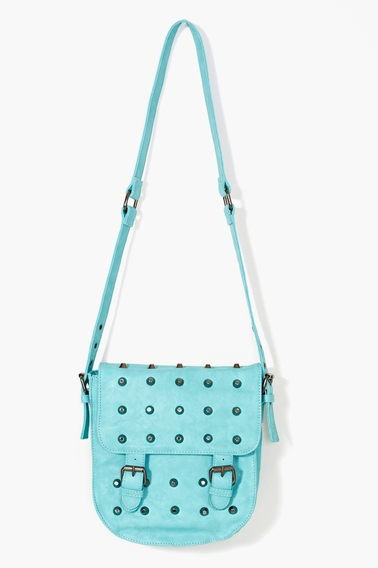 Studded Crossbody Bag in Blue