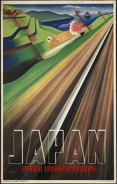 Japan  Japanese Government Railways by Boston Public Library, via Flickr