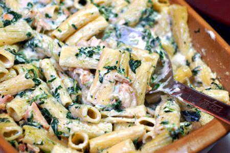 Grilled Chicken Rigatoni Florentine