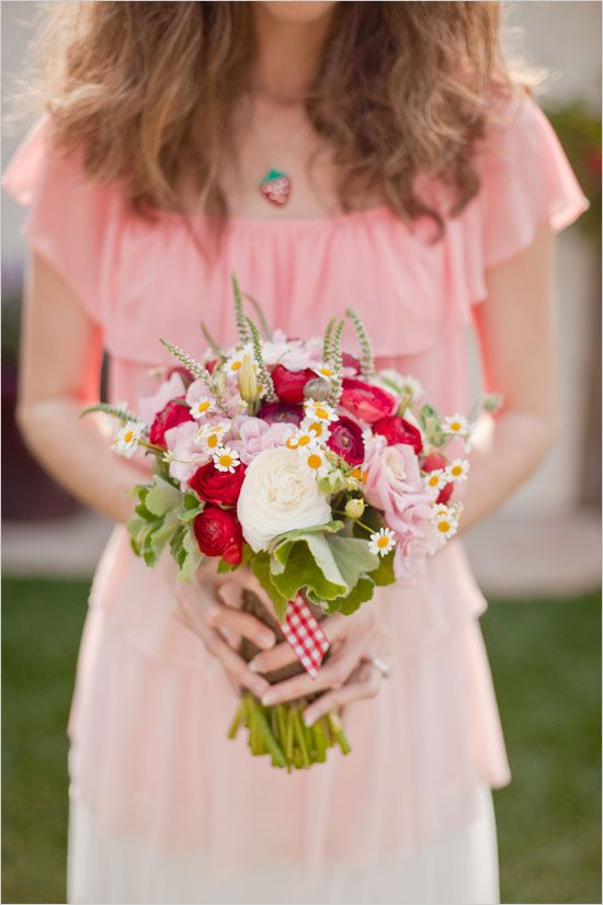 like the bouquet and dress