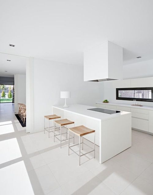 #kitchen design #interior design #minimalism #style #white #inspiration