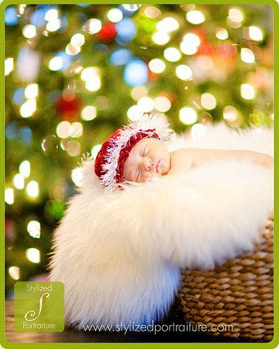 newborn christmas photo
