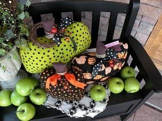 halloween cloth pumpkins