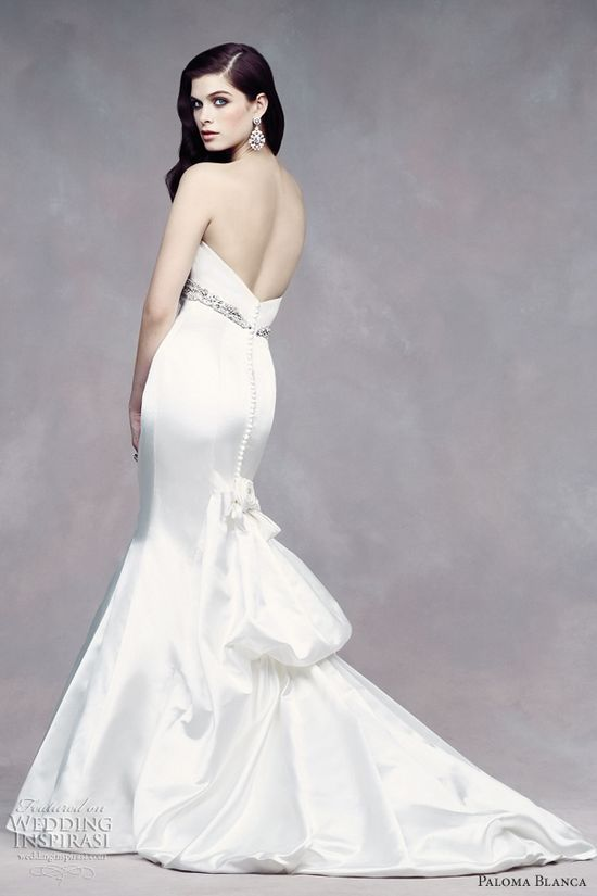 empire wedding dresses paloma blanca fall 2012 fit n flare