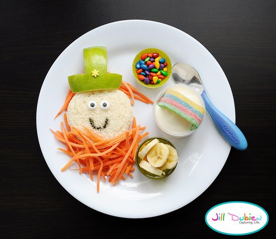 A leprechaun lunch for the wee ones on St. Paddy's Day...