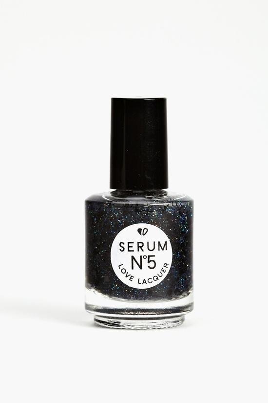 Glitter Nail Polish in Black