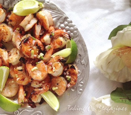 Grilled Shrimp with Vietnamese Vinaigrette via Taking On Magazines